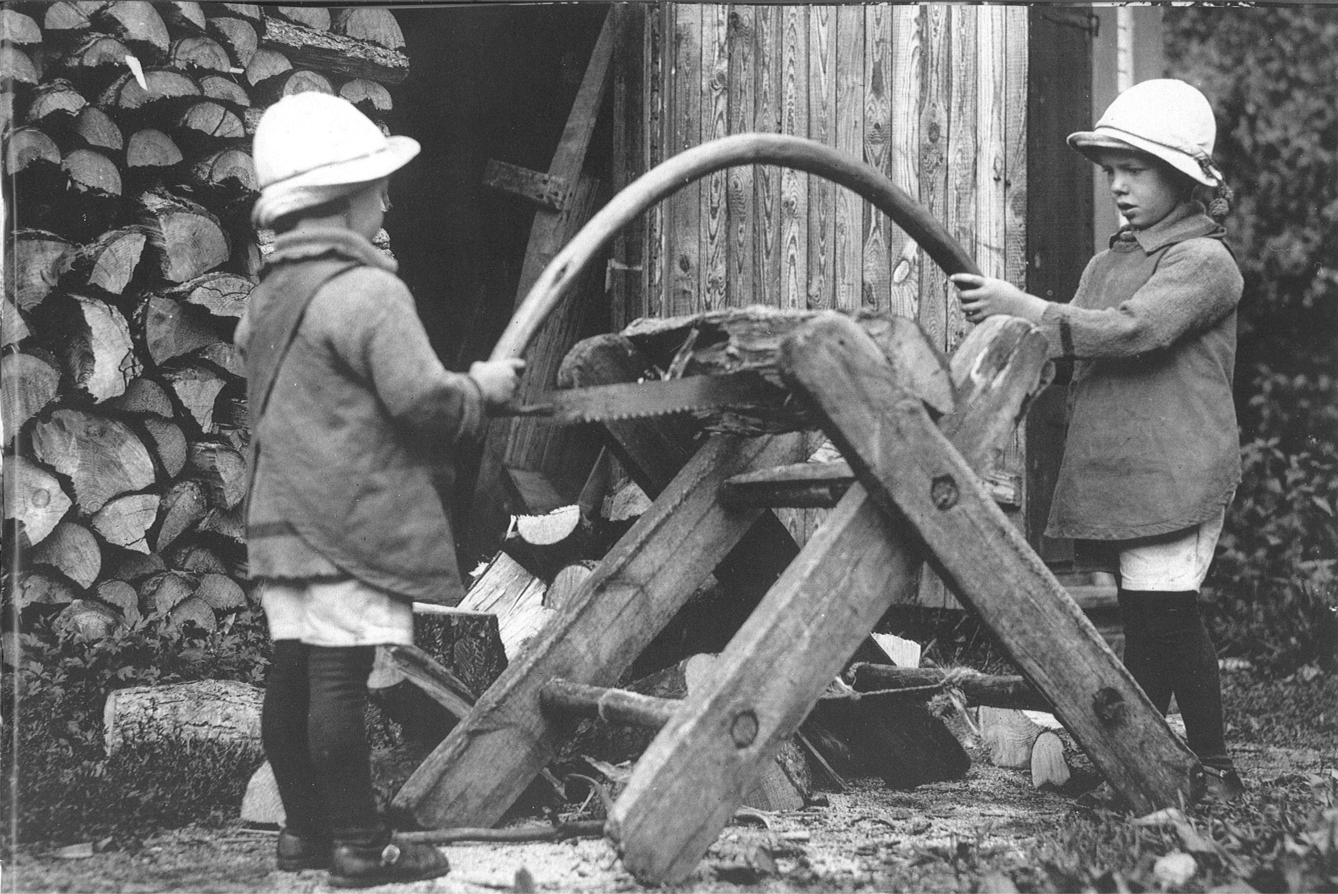 Bild på bröderna Carlsson, från Bruksbilder.