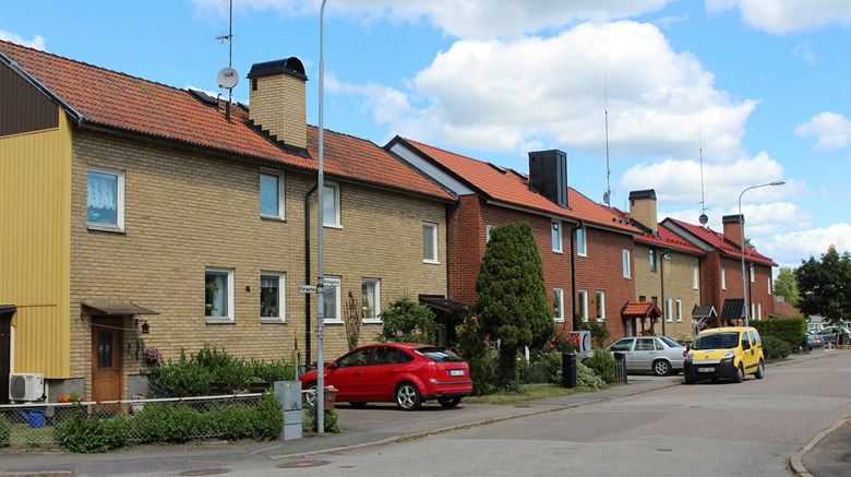 Radhus i kvarteret Trasten i Mellerud.