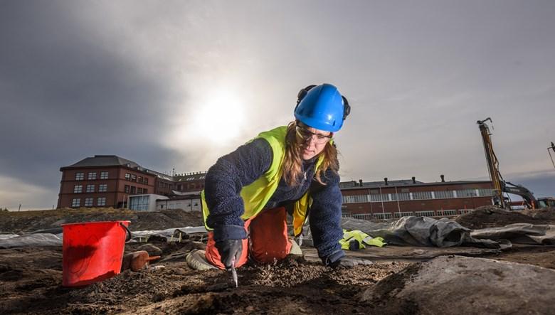 Arkeologisk utgrävning av nya Lödöse. Foto: Markus Andersson