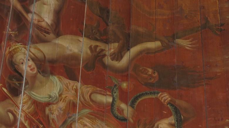 Örgryte gamla kyrka. Målat 1741 av Johan Ross d.ä.