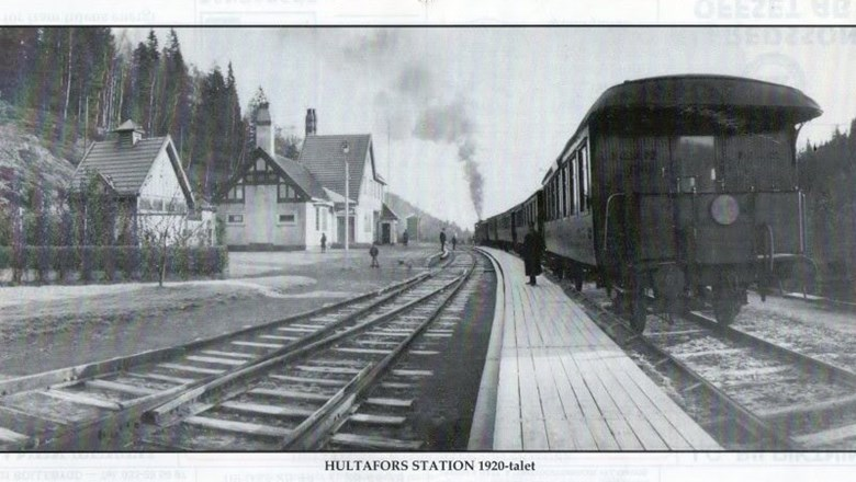 Hultafors stationsområde på 1920-talet