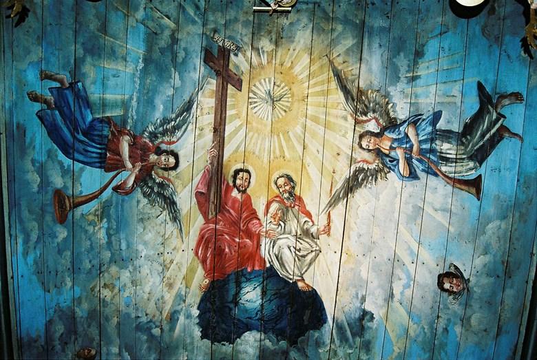 Bemålat tak i Kilanda kyrka