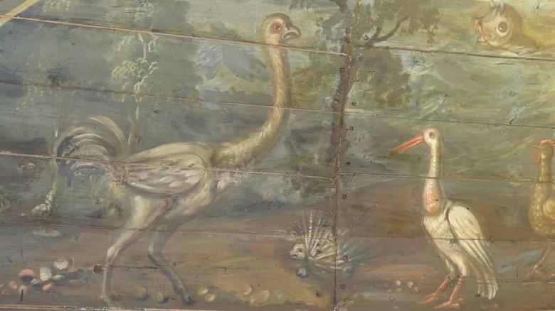 Bro kyrka. Målat 1709 av Christian von Schönfeldt.