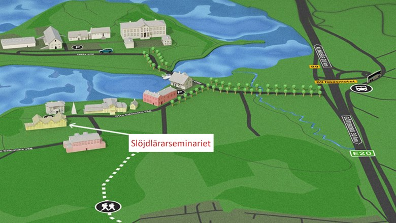 Karta över Nääsområdet