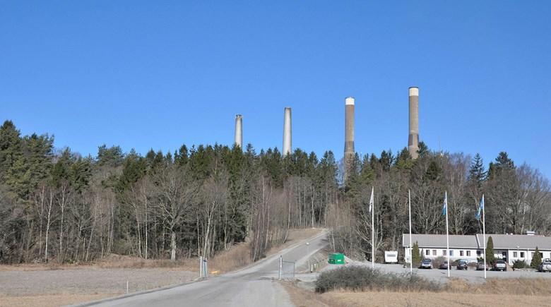 De fyra skorstenarna i Stenungsund.