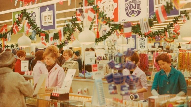 Julhandel på Domus 1967. Foto:Kalmar läns museum