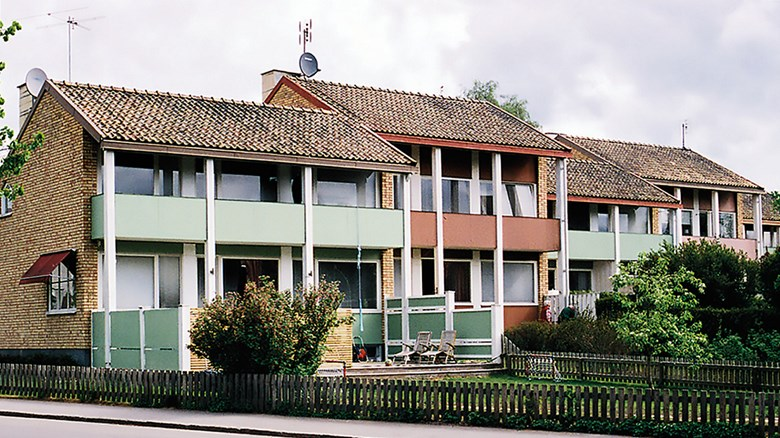 Radhus i kvarteret Munken i Skara. Foto Ulf Eriksson.