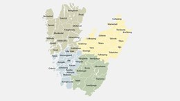 Karta Västra Götalands kommuner