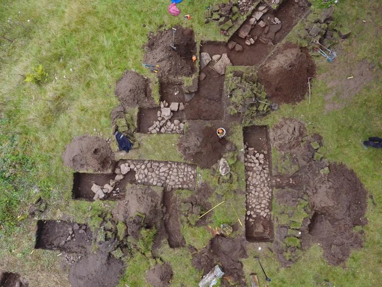 Arkeologisk utgrävning på Husön