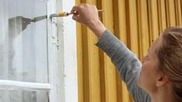 Målning av fönster