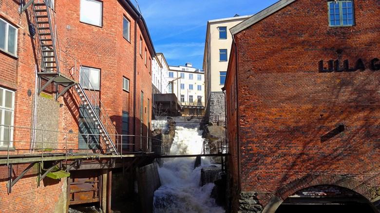 Forsande vatten i Mölndals kvarnby.